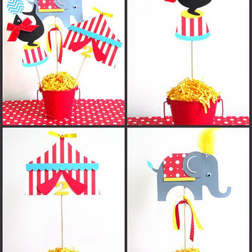 Circus Party Decorations | Circus Centerpieces | Set of 3