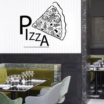 ik1033 Wall Decal Sticker pizza Pizzeria Italian Restaurant Pizzeria Italy