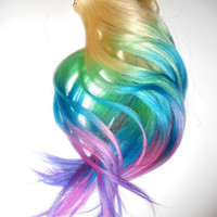 OMBRE Colored Hair Extensions / 18 or 20 In Long / Thick DOUBLE Wefted Clip Ins / Full Set Of Remy Human Hair