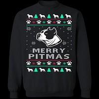 Pitbull Ugly Christmas Sweater
