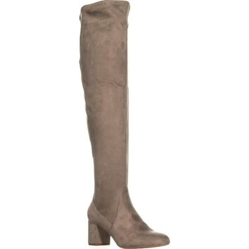 I35 Rikkie Wide Calf Over-The-Knee Boots, Soft Taupe, 9.5 US