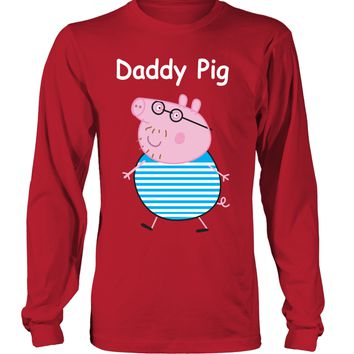 Daddy Pig Long Sleeved T-Shirt Unisex - Peppa Pig clothing