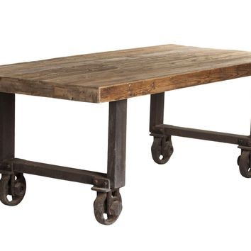 Fiumicino Industrial Modern Dining Table Recycled Wood