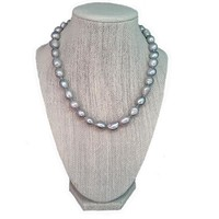 Silver/Grey Freshwater Pearl Necklace