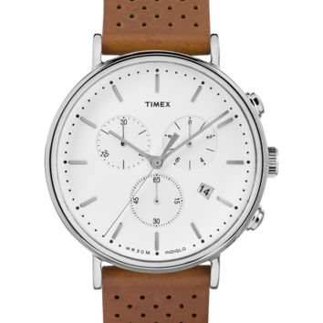 Fairfield Leather Chronograph Watch - Men's Watches | Timex