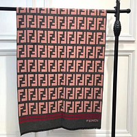 Fendi Autumn And Winter Women New Fashion More Letter Print Warm Scarf