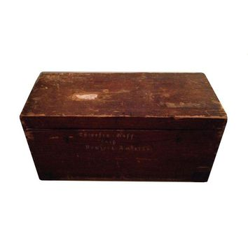 Pre-owned Rustic Antique Wood Trunk