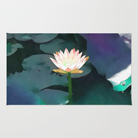 Joie de vivre ~ Lotus Art #society6 Rug by 83oranges.com | Society6