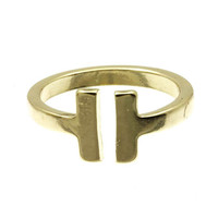 Adorn by Lulu- Bar Ring Gold and Silver