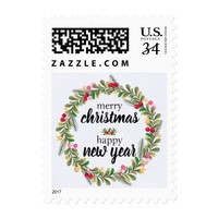 Holiday Wreath | Postage Stamp