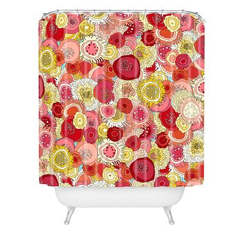 Sharon Turner Coral Garden Shower Curtain