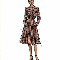 Gorgeous Retro Coat Pattern, Butterick 5824 sizes 6 to 14