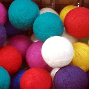 100% Wool 4 Dryer Balls - Eco Friendly-All Natural - Laundry Balls Save Energy -Unscented or Scented