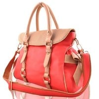 Sweet Cute Candy Color Bowknot Leisure Handbag