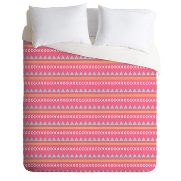 Allyson Johnson Pink Native Aztec Duvet Cover