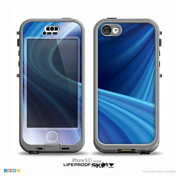 The Gradient Waves of Blue Skin for the iPhone 5c nüüd LifeProof Case
