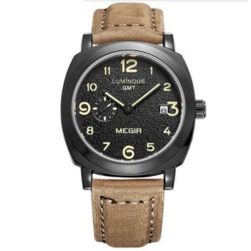 Leather Military Watch  for men