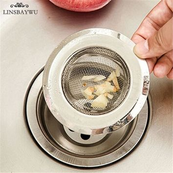 LINSBAYWU Stainless Steel Bathtub Hair Catcher Stopper Shower Drain Hole Filter Trap Metal Sink  Kitchen Bathroom Strainer
