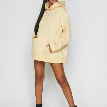 Just Chill Oversized Hoodie Dress Vanilla