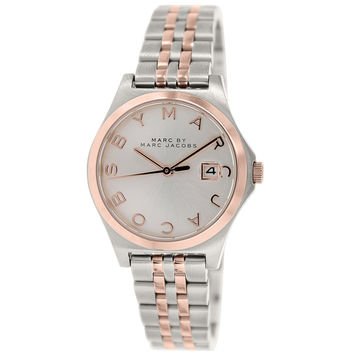 Marc by Marc Jacobs MBM3353 Women's The Slim Silver Dial Two Tone Rose Gold Steel Watch