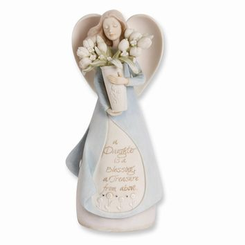 Foundations Daughter Angel Figurine - Perfect Daughter Gift