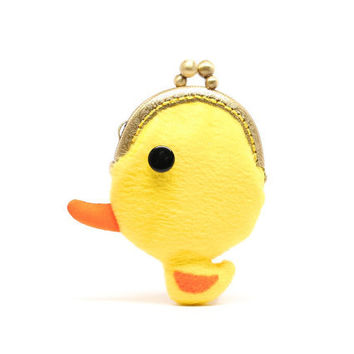 Tiny yellow duck coin pouch