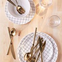 12-Piece Metallic Flatware Set | Urban Outfitters