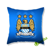 Manchester City Fc Logo Square Pillow Cover