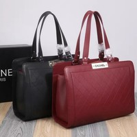 Red Real Leather Women Fashion Hand Bags