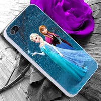 Elsa and Anna Disney Frozen iPhone case cover, iPhone 4/4s/5/5s/5c case, Samsung Galaxy S3/S4 case, iPod 4/5 case