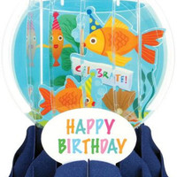 Pop-Up Snow Globe Greeting Card - Goldfish