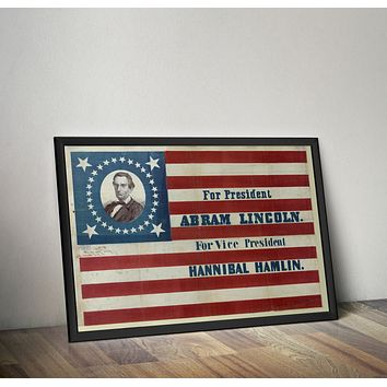 President Abraham Lincoln Campaign Poster- 1860