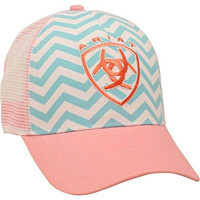 Ariat Women's Aqua And Chevron Ballcap Pink One Size