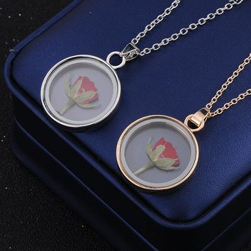 Little Prince Rose Flowers Necklaces