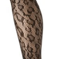 Betsey Johnson Women's Luscious Leopard Fishnet Tight