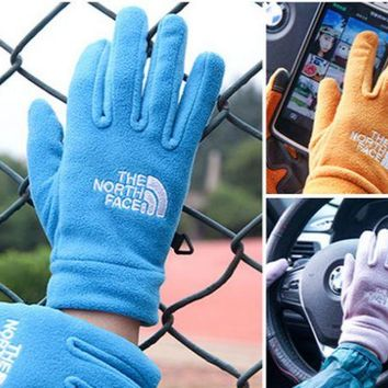 DCCKUNT Unisex The North Face Fleece Cycling Sports Touchable Gloves