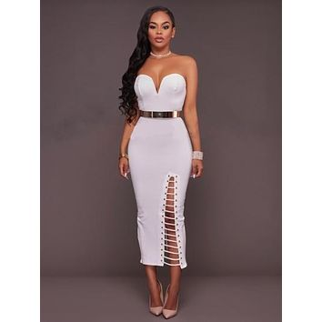 Strapless Bandage Women's Sheath Dress