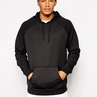 ASOS | ASOS Oversized Hoodie With Mesh Panel at ASOS