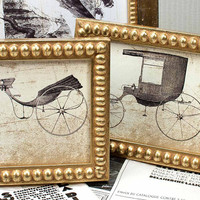 TWO 4x5 inch Narrow Gold Boules Photo Frames for Wedding/Office/Desktop 4x5 inch Photo Frames