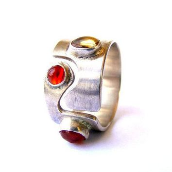 ONE OF A KIND - - Adjustable silver gemstone ring on SALE NOW for ONLY 119.99!! (was $130)
