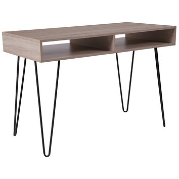 Franklin Wood Grain Finish Computer Table with Metal Legs