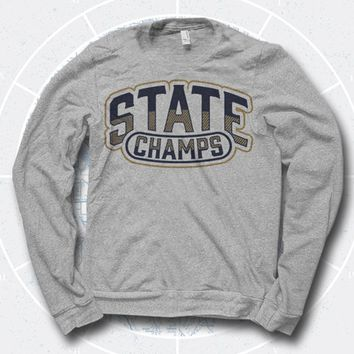 Arch Logo Heather Grey Crewneck : PNE0 : State Champs