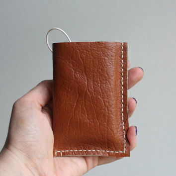 Genuine Leather Brown Wallet, Leather Wallet, Genuine Leather, Leather Card Holder, Mens Wallet, Wallet with Elastic
