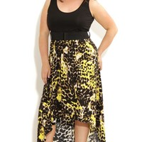 Plus Size Animal Color Maxi - City Chic - City Chic