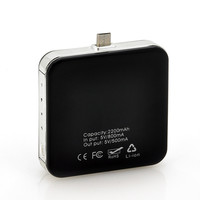 Portable Micro USB Mobile Phone Charger - Solar Charger, 2200mAh