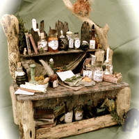 Dolls House Miniatures - A Hooting Experience Table