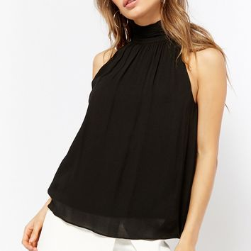 High-Neck Sleeveless Top