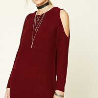 Longline Open-Shoulder Sweater