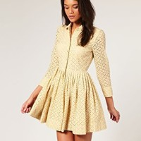 ASOS | ASOS Broderie Anglaise Shirt Dress at ASOS