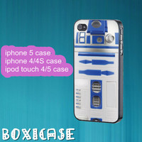 R2D2 Star Wars---iphone 4 case,iphone 5 case,ipod touch 4 case,ipod touch 5 case,in plastic,silicone and black,white.